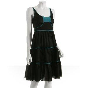 Tufi Duek black tiered dress