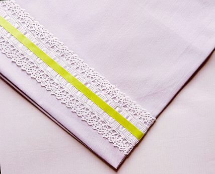 Ribbon-Trimmed Pillowcases