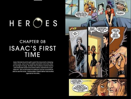 HEROES Graphic novel Chapter eight: Isaac's first time.