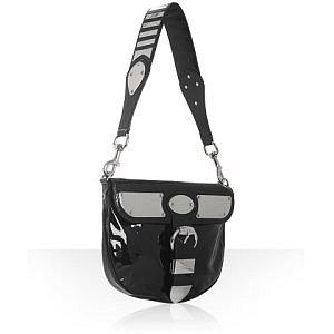Gucci black patent medium 'Romy' shoulder bag