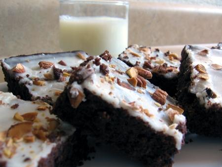 almond butter-hazelnut brownies