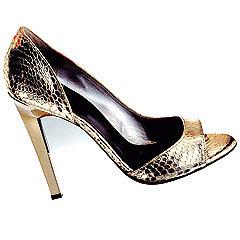 Metalic Snakeskin Shoe