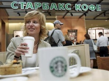 Starbucks opens first coffee shop in Russia (Yahoo:Reuters)