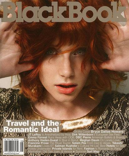 Bryce Dallas Howard - Black Book photoshoot