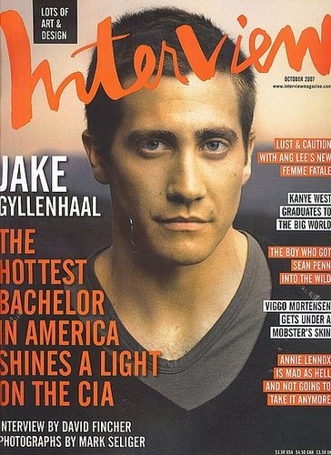 Jake Gyllenhaal for Interview Magazine October 2007
