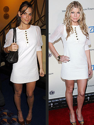Who wore this better- Molly Sims or  Fergie??