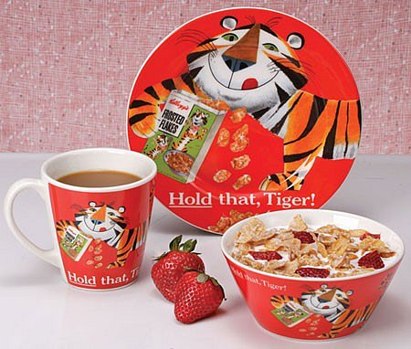 Kellogg's Tony the Tiger Breakfast Set - Orange at Tabula Tua
