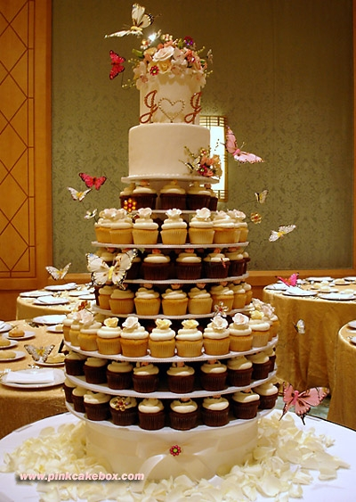 Cupcake Wedding Tree