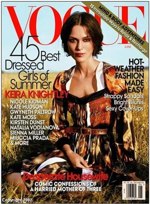 What's the Best Vogue Cover - June 2007? (My vote goes to Italy!)
