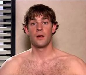 JKrasinski... shirtless? Oh, yeah...