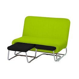 Target : Couch with Ottomans- Apple Green/ Black