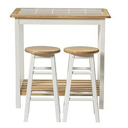 Target : Tile Top Breakfast Bar with 2 Stools