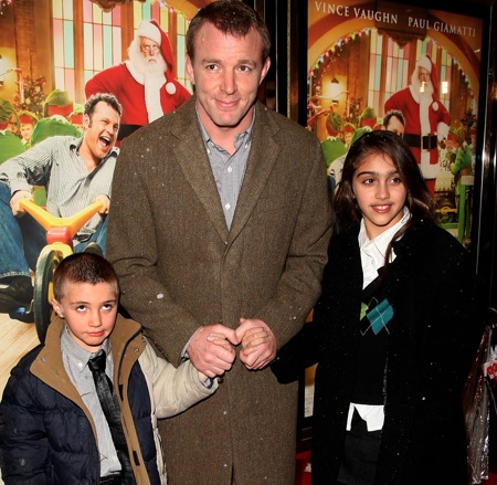"Guy Ritchie brought Lourdes and Rocco to the London premiere of ""Fred Claus"""