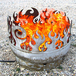 Crave Worthy: Beach Burner Recycled Steel Fire Pit