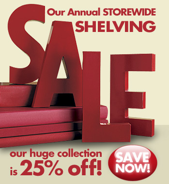 Sale Alert: The Container Store Annual Shelving Sale