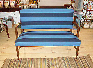 Casa Craving Challenge: Blue Striped Danish Bench