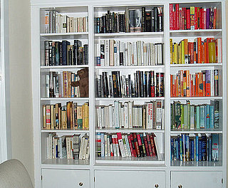 Dressing My Walls: Color-Coordinated Bookshelf
