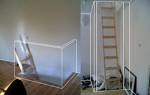 Before and After:  A Squeezed-In Staircase