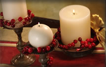 Cranberry Decorating Part III: Cranberry Candle Wraps