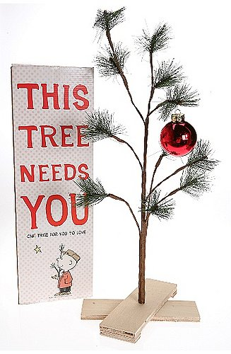 Deck the Haus:  Urban Outfitters Charlie Brown Tree