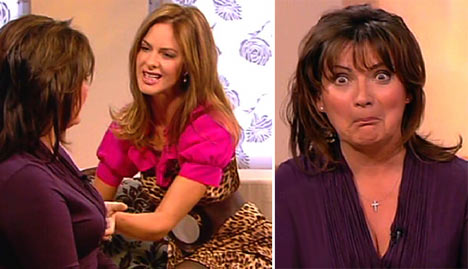 Trinny and Susannah give Lorraine the squeeze