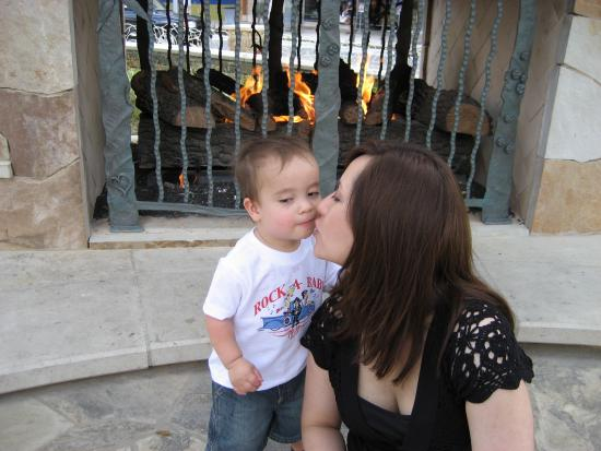Keanu letting me kiss him on Mother's Day 2007