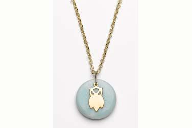 Owl Pendant Necklace by Kris Nations available at Delight.com