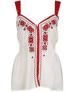 Forever21.com - White and Red Flower Tunic