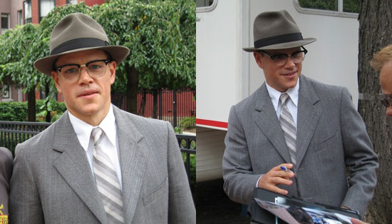 Celebrity Sighting of The Day: On Set With Matt Damon