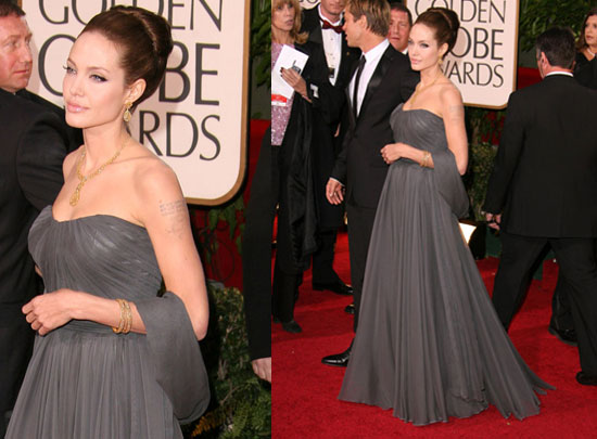 The Golden Globes Red Carpet: Angelina Jolie