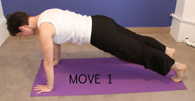 Let Pilates move you: Control Front