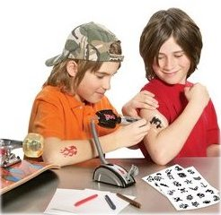 Funny or stupid? Toy tattoo gun for kids