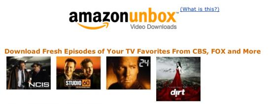 Amazon to Offer Digital Downloads for TV