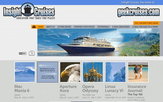 Website Of The Day: Geekcruise.com