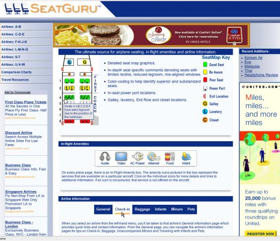 Website of the Day: Seatguru.com