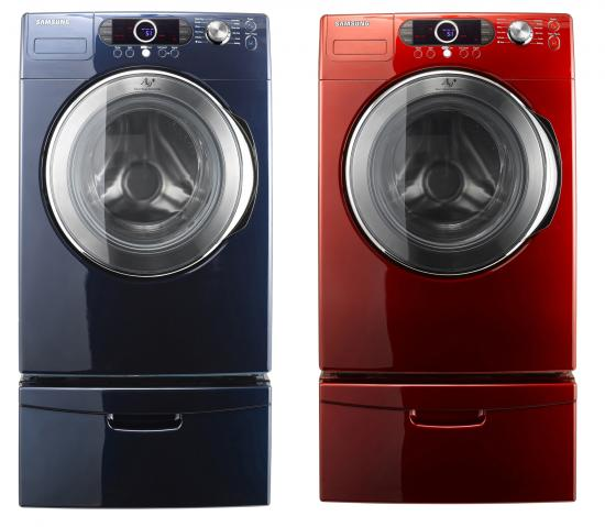 Totally Geeky or Geek Chic? Colorful Washing Machines