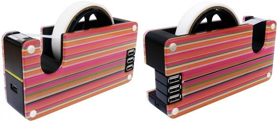 Colorful Striped USB Tape Dispenser