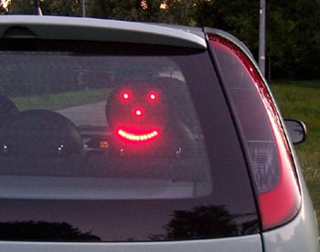 Totally Geeky or Geek Chic? Driving LED Emoticon