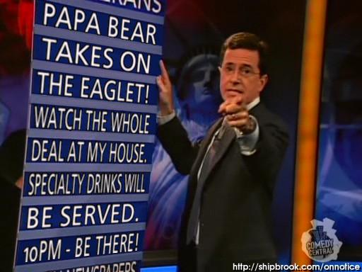 Happy Hour: Nailed It! and Papa Bear (Colbert vs. O'Reilly)