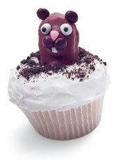 Cute Groundhog Cupcakes