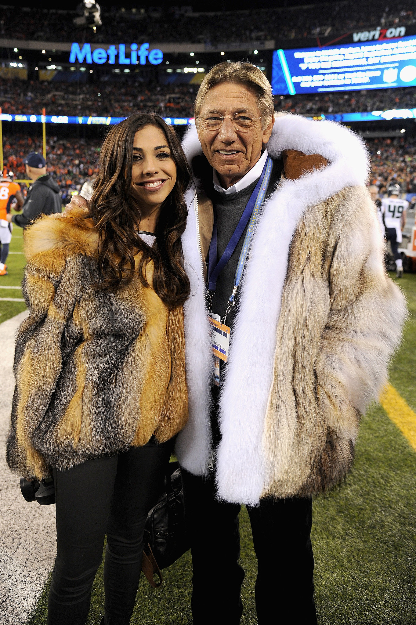 huge discount 0340f b9f5e Joe Namath's Fur Coat at Super Bowl 2014 | POPSUGAR Fashion