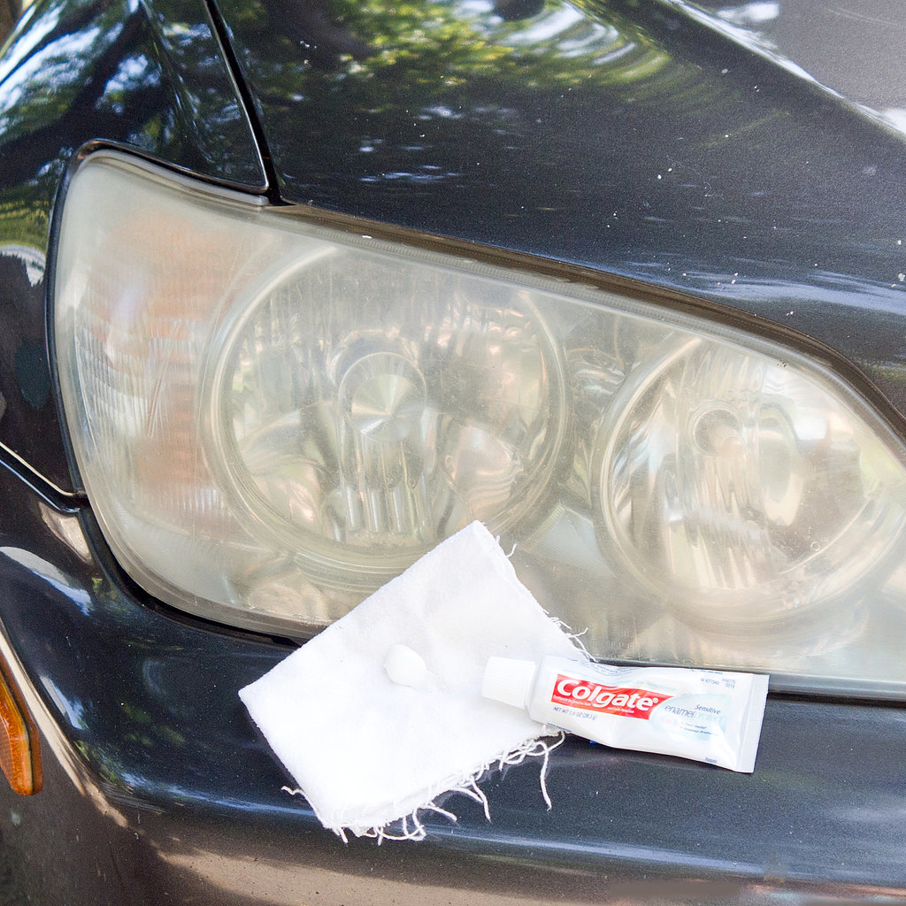 Clean Headlights With Toothpaste Popsugar Smart Living