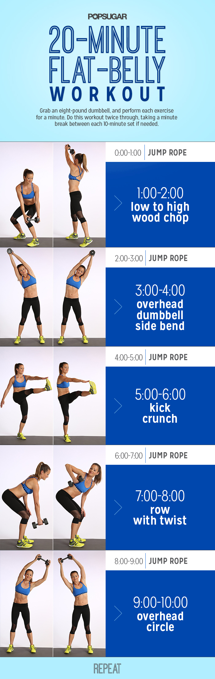 Flat-Belly Challenge Day 11 | POPSUGAR Fitness